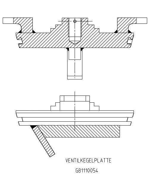 G81110054 BV Serseg EBA 152 Ventilkegelplatte KZ