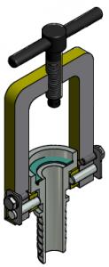 G81550008 Dampfanschlussbügel mit Standardtülle 3D