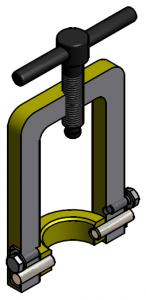 G81550037 Dampfanschlussbügel 3D