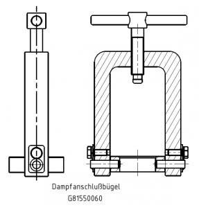 G81550037 Dampfanschlussbügel KZ