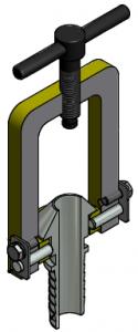 G81550037 Dampfanschlussbügel mit Konustülle 3D