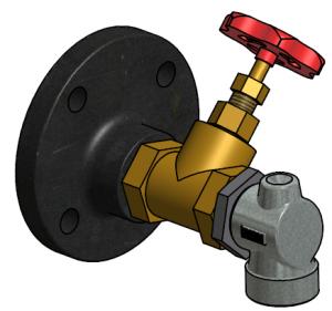 G81550041 Dampfheizung- Absperrschieber 3D