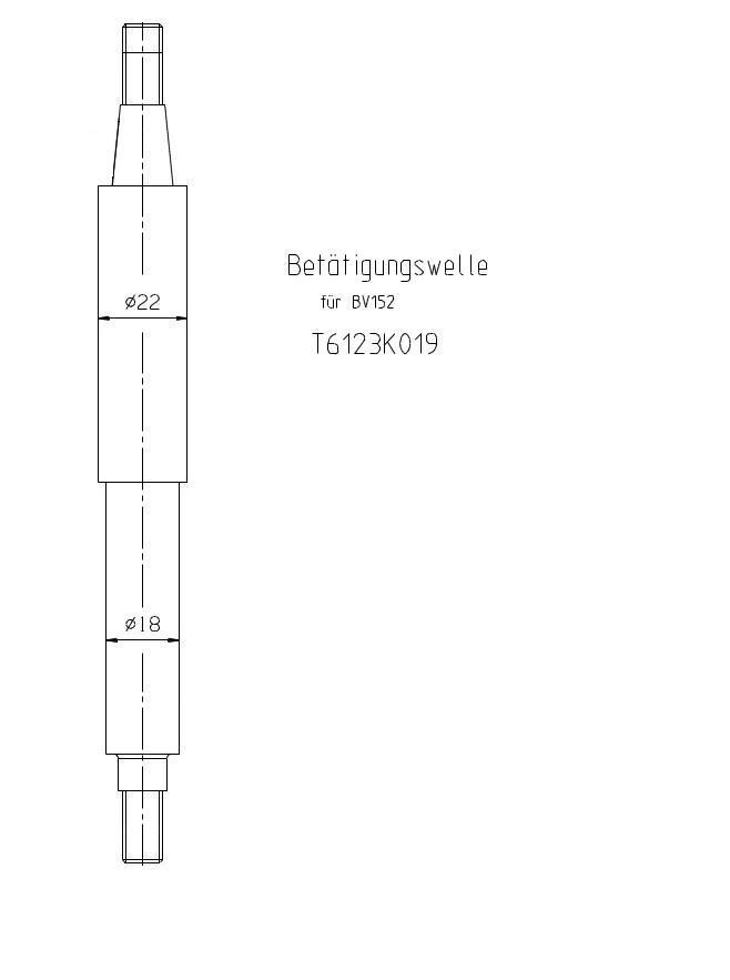 T6123K019 BV Serseg EBA 152 Betaetigungswelle KZ