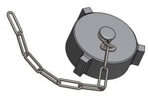 G81150007 Verschlusskappe 120 mit Kette 3D