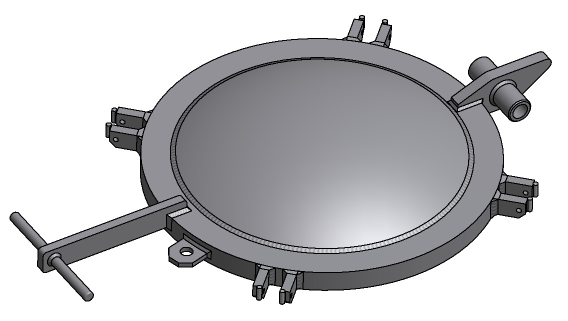 G81300132 4K Domdeckel gewölbt DN500 3D