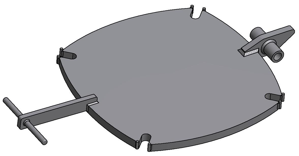 G81300136 4K Domdeckel glatt DN500 3D