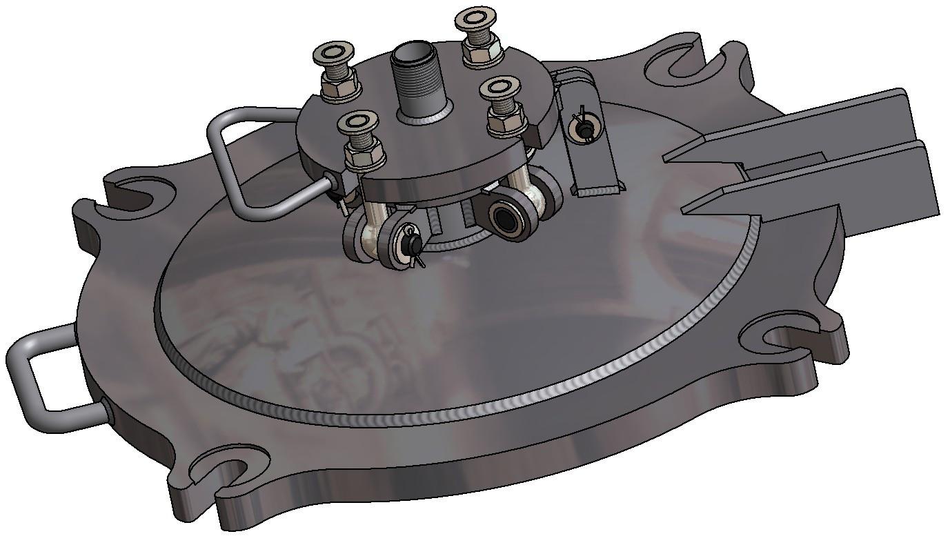 G81370007 Schwefeldomdeckel DN500 3D