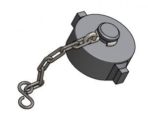 G81900072 Verschlusskappe 2Zoll mit Kette 3D