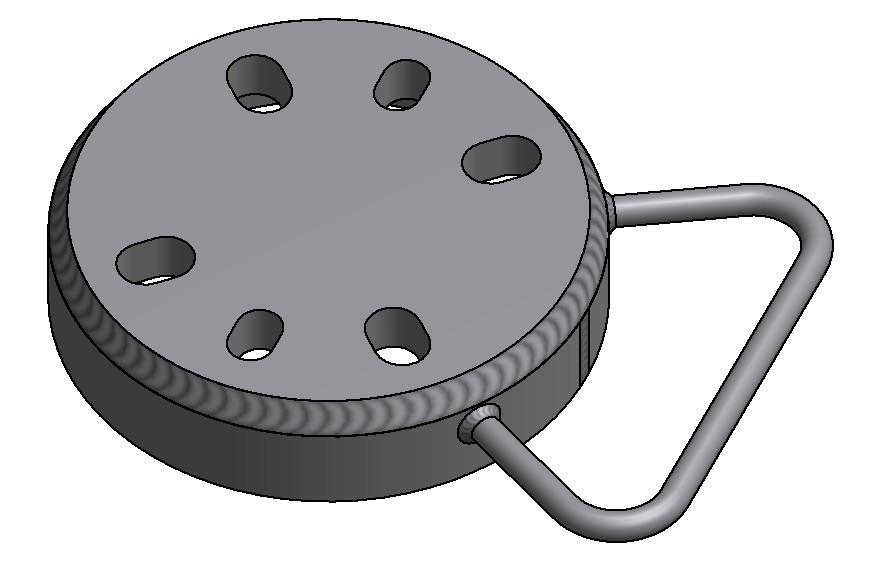 G81600070 Kombi Blindflansch DN40_50 mit Spritzring und Handgriff 3D
